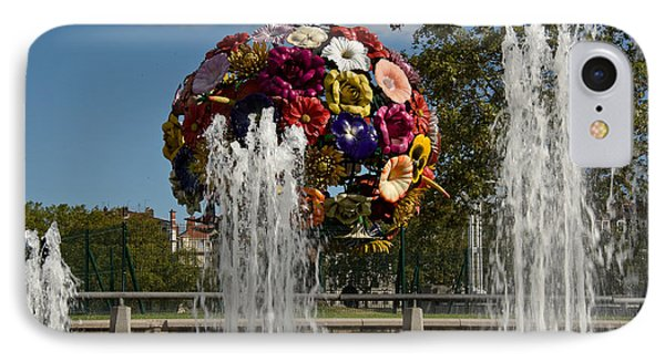 Flowers And Fountains On The River Bank IPhone Case by Oleg Koryagin