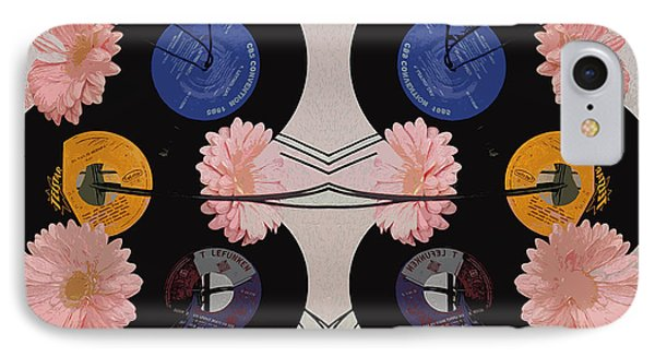 Flowers And Phonographs IPhone Case by Nina Silver