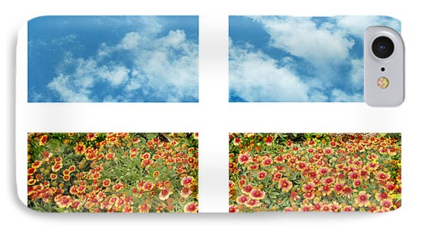 Flowers And Sky Phone Case by Ann Powell