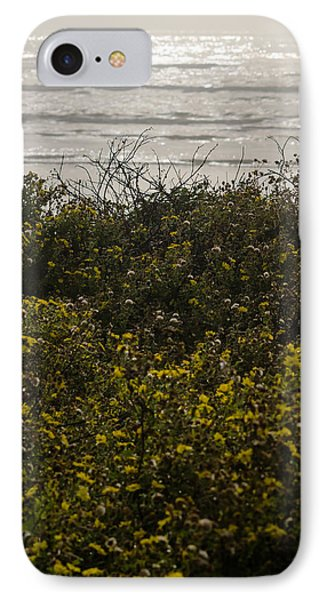 Flowers And The Sea IPhone Case by Allen Sheffield