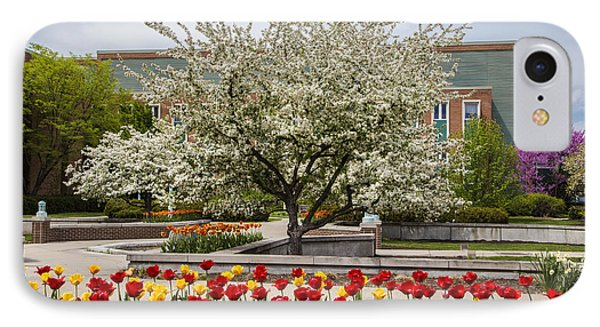Flowers And Tree At Michigan State University  IPhone Case