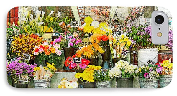 Flowers At The Bi-rite Market In San Francisco  Phone Case by Artist and Photographer Laura Wrede