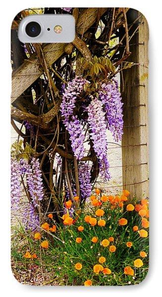 Flowers By The Gate Phone Case by Avis  Noelle