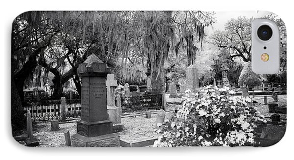 Flowers By The Grave Phone Case by John Rizzuto