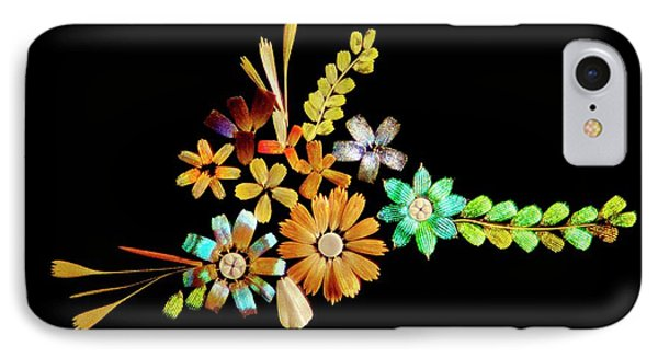 Flowers Created From Butterfly Scales IPhone Case by Steve Lowry
