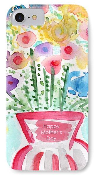 Flowers For Mom- Mother's Day Card IPhone Case by Linda Woods