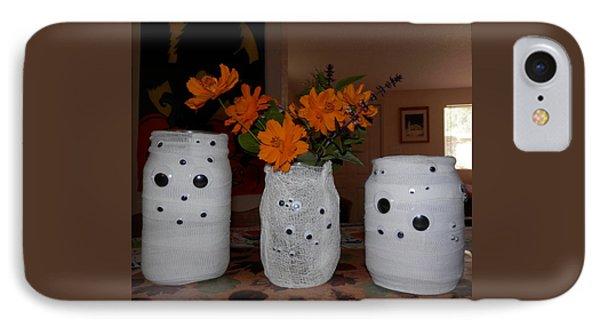 Halloween Flowers For Mummy IPhone Case by Belinda Lee