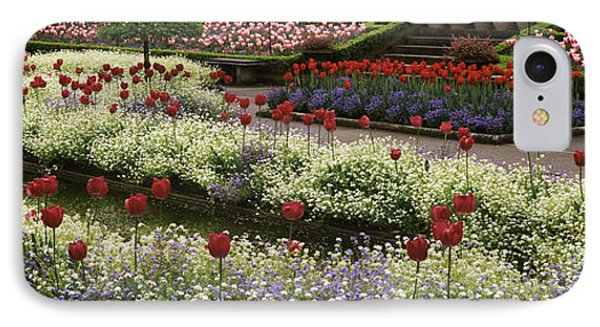 Flowers In A Garden, Butchart Gardens IPhone Case by Panoramic Images