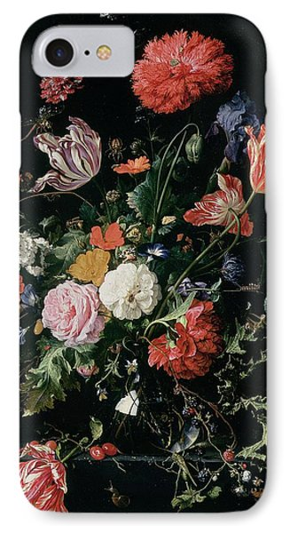 Flowers In A Glass Vase, Circa 1660 IPhone 7 Case