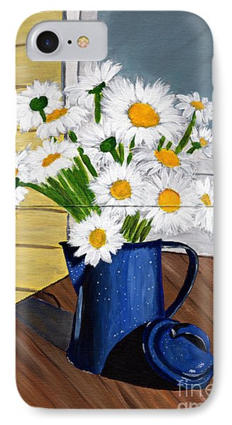 IPhone Case featuring the painting Flowers In A Teapot by Laura Forde