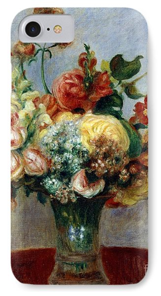 Flowers In A Vase IPhone Case by Pierre-Auguste Renoir