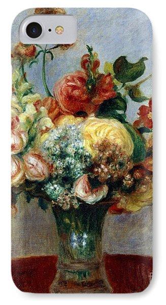 Flowers In A Vase Phone Case by Pierre-Auguste Renoir