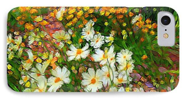 Flowers In The Garden IPhone Case by Alan Lakin