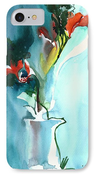 Flowers In Vase IPhone Case by Anil Nene