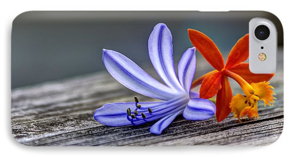 Flowers Of Blue And Orange IPhone Case