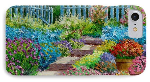 Flowers Of The Garden IPhone Case by Jean-Marc Janiaczyk