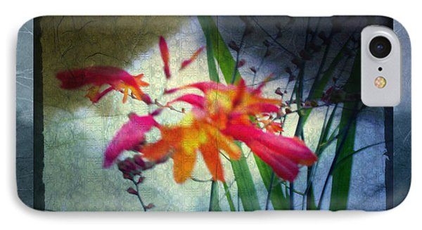 Flowers On Parchment IPhone Case by Absinthe Art By Michelle LeAnn Scott