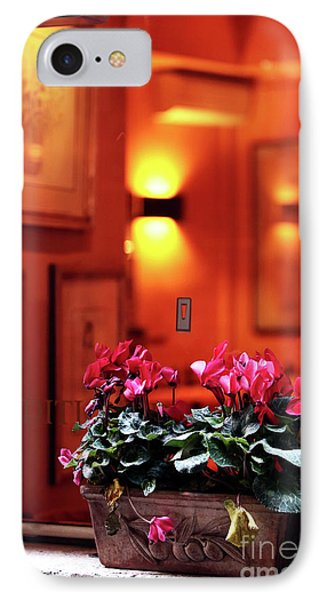 Flowers On The Ledge Phone Case by John Rizzuto