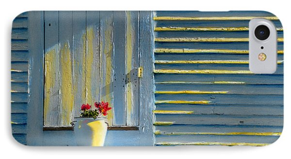Flowers On The Porch IPhone Case by Cindy McIntyre