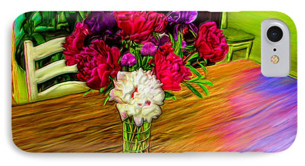 Flowers On The Table IPhone Case by Bruce Nutting
