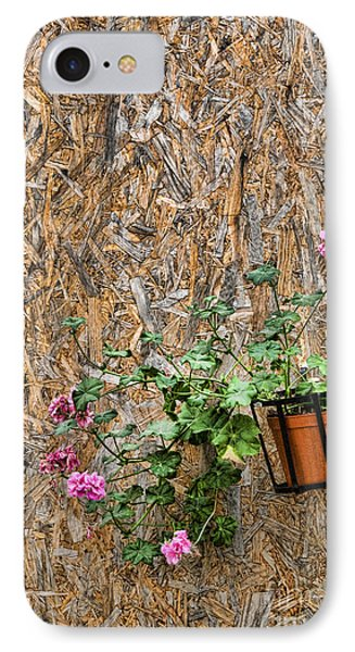 Flowers On Wall - Taromina Phone Case by David Smith