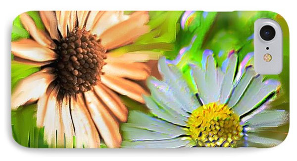Flowers Orange And Blue Phone Case by Nedunseralathan R
