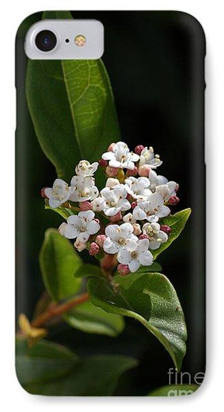 Flowers-tiny White Phone Case by Joy Watson