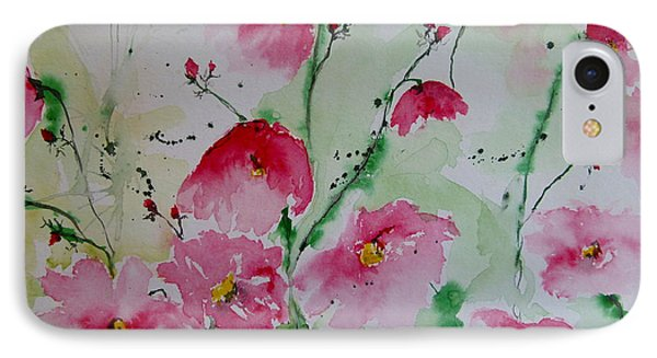 Flowers - Watercolor Painting Phone Case by Ismeta Gruenwald