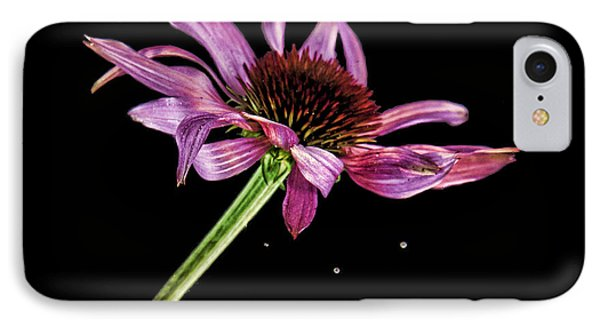 Flowing Flower 6 IPhone Case by John Crothers