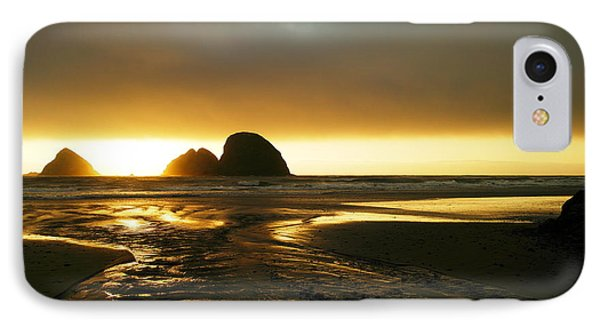 Flowing Into The Ocean IPhone Case by Jeff Swan