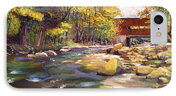 Flowing Water At Red Bridge Phone Case by David Lloyd Glover