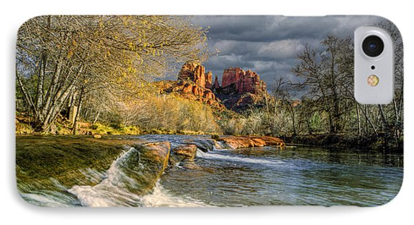 Flowing Water By Cathedral Rock IPhone Case by Randall Nyhof