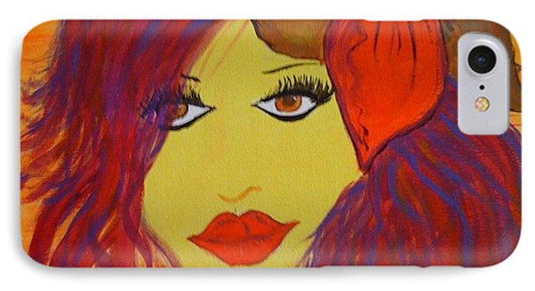 IPhone Case featuring the painting Fluorescent Beauty by Judi Goodwin