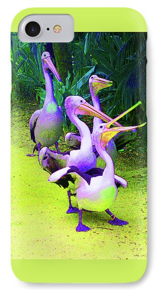 Fluorescent Pelicans IPhone Case