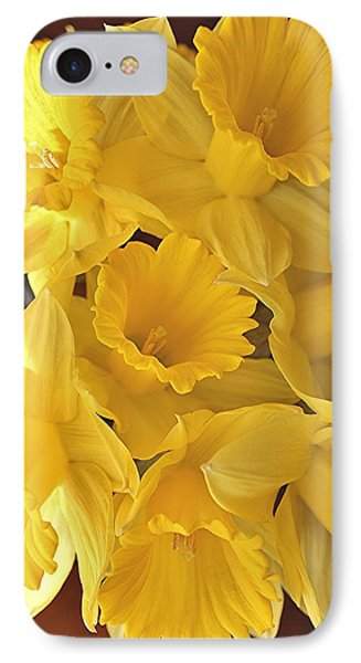 IPhone Case featuring the photograph Flurry Of Daffodils by Diane Alexander