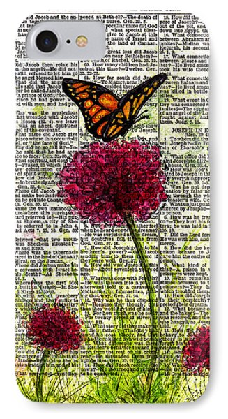 IPhone Case featuring the painting Flutter By by Melissa Sherbon