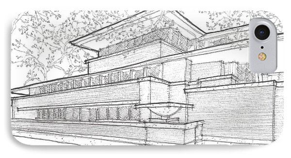 Flw Robie House IPhone Case by Calvin Durham