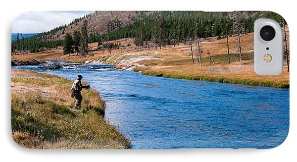 Fly Fishing In Yellowstone  IPhone Case by Lars Lentz