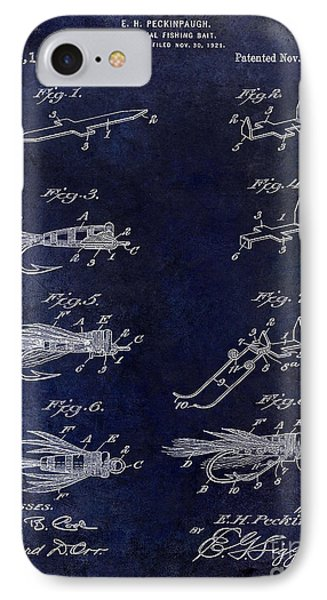 1922 Fly Fishing Lure Blue IPhone Case