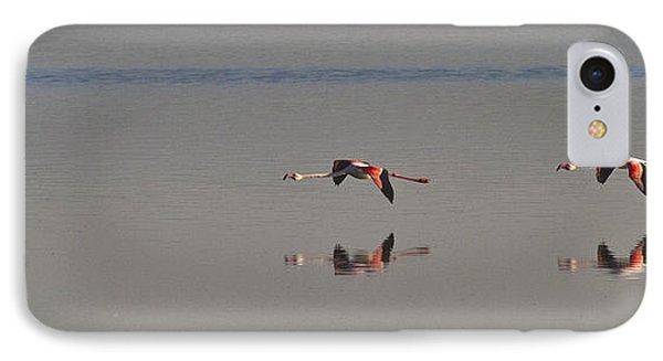 Fly Fly Away My Pretty Flamingo Phone Case by Heiko Koehrer-Wagner