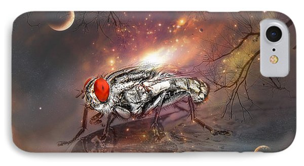 IPhone Case featuring the digital art Fly From Mars 01 by Kevin Chippindall