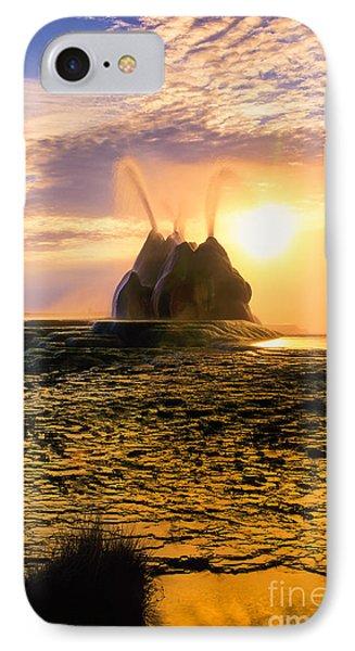 Fly Geyser Sunrise IPhone Case by Inge Johnsson