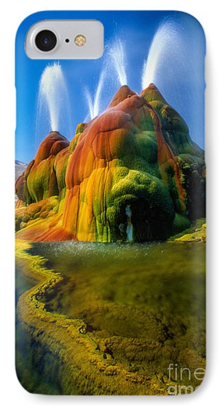 Fly Geyser Travertine Phone Case by Inge Johnsson