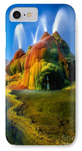 Fly Geyser Travertine IPhone Case by Inge Johnsson