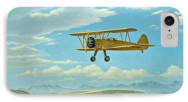 Fly-in At Three Forks - Stearman   IPhone Case by Paul Krapf