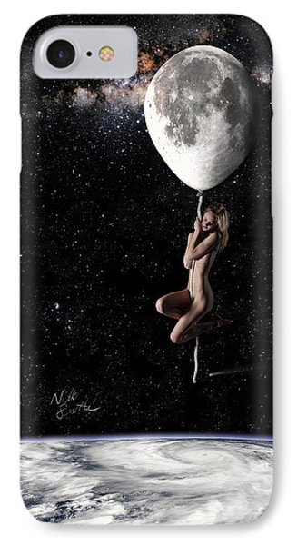 Fly Me To The Moon - Narrow Phone Case by Nikki Marie Smith