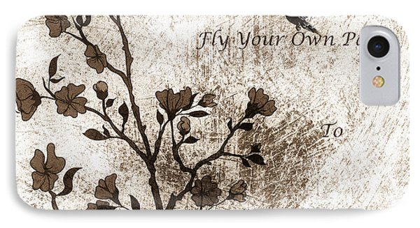 Fly Your Way To Freedom Sepia IPhone Case