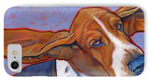 Flying Basset Hound Phone Case by Lynn Culp