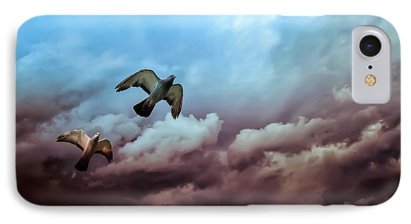 Flying Before The Storm IPhone Case by Bob Orsillo