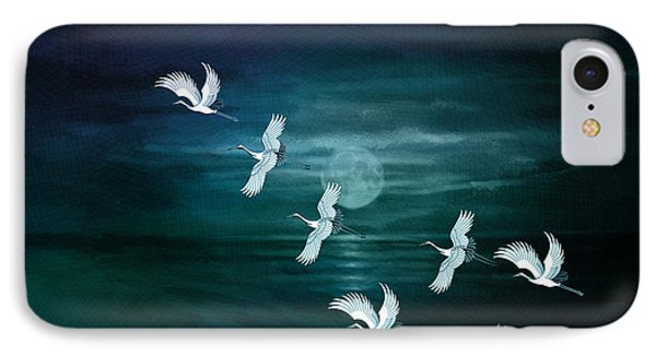 Flying By The Moon Bay Phone Case by Bedros Awak